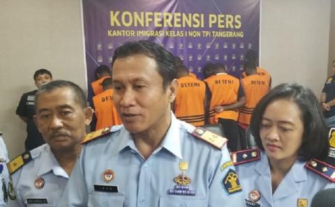 10 WN Nigeria Ditangkap Imigrasi Tangerang