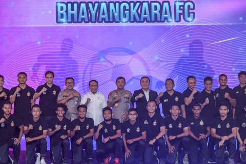 Kapolri Resmikan Jersey Bhayangkara FC