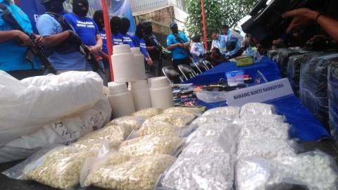 Narkoba Produksi Bandung Diedarkan ke Jawa dan Kalimantan