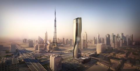 Menara 'Keramik' Tertinggi di Dunia dengan Desain Memutar