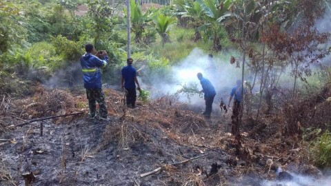 Kebakaran Lahan di Aceh Selatan Diduga Disengaja