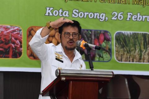 Mentan Ajak Petani Papua Barat Tingkatkan Produksi