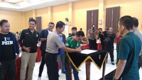 Suporter PSS dan PSIM Janji tidak Rusuh