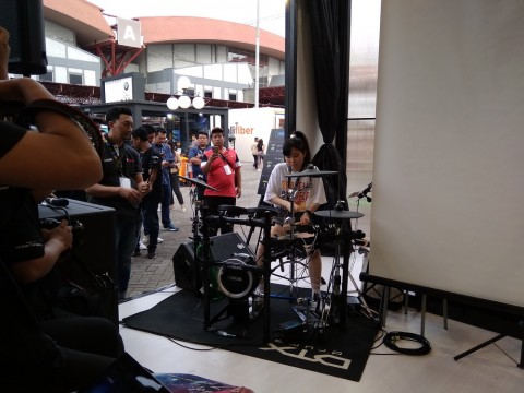 Drummer Jepang Senri Kawaguchi Meriahkan Area Java Jazz 2020