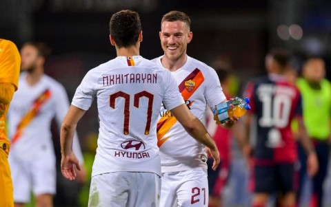 Kalinic Cetak Dua Gol, Roma Bungkam Cagliari