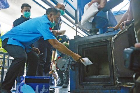 BNNP Sulsel Musnahkan Sabu Senilai Rp5,5 M