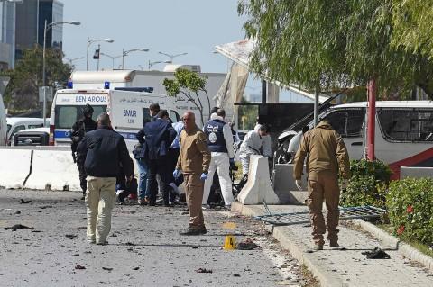Bom Bunuh Diri di Depan Kedubes AS di Tunisia, Polisi Tewas