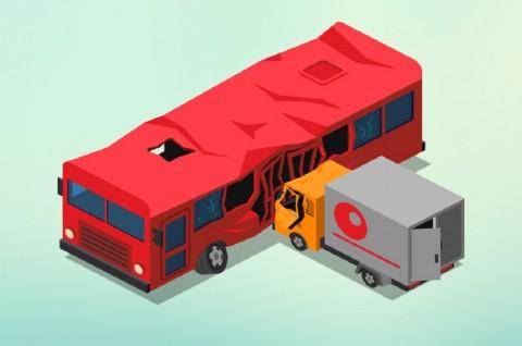 Truk BBM Tabrak Bus di Suriah, 32 Orang Tewas