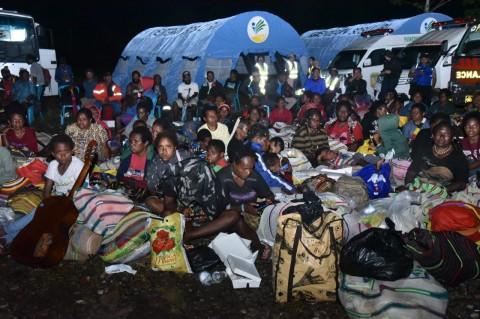 Ratusan Warga Distrik Tembagapura Dievakuasi ke Timika