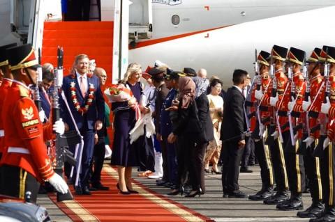 Dutch King Willem-Alexander Arrives in Indonesia