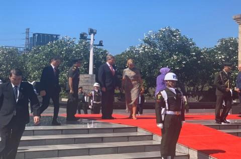 King Willem-Alexander, Queen Maxima Visits Kalibata Heroes Cemetery