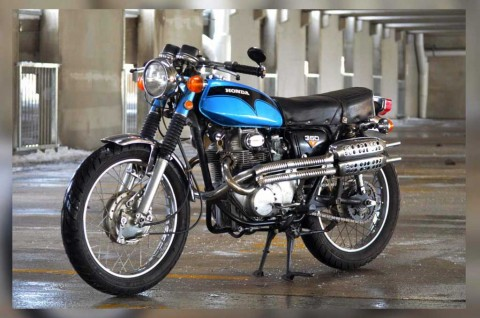 Tampilan Klimis Honda CL350 1972 Scrambler