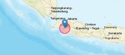 Gempa Magnitudo 5,0 Guncang Sukabumi
