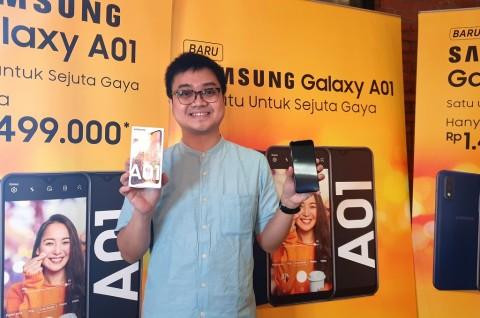 Smartphone Rp1 Juta Samsung Galaxy A01 Hadir di Indonesia