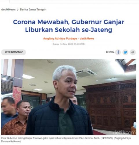 [Cek Fakta] Gubernur Jateng Liburkan <i>Driver</i> Grab Grobogan dan Perjuangkan Insentif Rp200 Ribu per Hari? Ini Faktanya