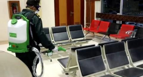 Bandara Sultan Iskandar Muda Disemprot Disinfektan