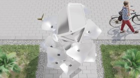 Desain Air Mancur yang Terinspirasi Kumbang Gurun
