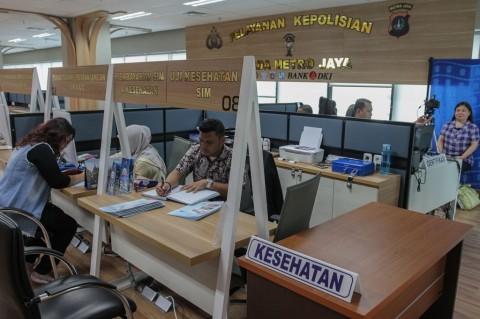 Pelayanan SIM di Polda Metro Jaya Normal