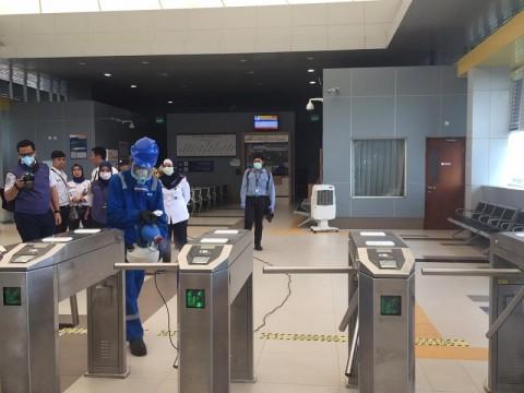 Penumpang Bersuhu Tubuh Tinggi 'Haram' Naik LRT Palembang