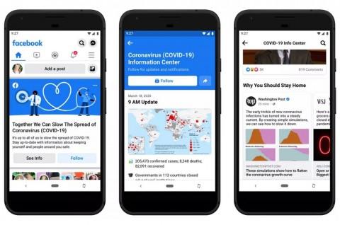 Facebook Tampilkan Informasi Covid-19 di Atas News Feed