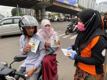 Baznas DKI Siapkan Isi Ulang <i>Hand Sanitizer</i> Gratis