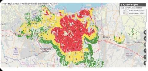 UI Buat Peta Daring Pantau Penyebaran Korona