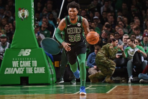 Guard Boston Celtics Marcus Smart Positif Korona