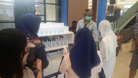 Siswa SMK di Tangerang Ciptakan Ratusan Botol Hand Sanitizer