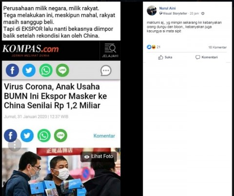 [Cek Fakta] Anak Usaha BUMN Impor Masker Bekas Tiongkok? Ini Faktanya