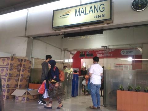 Penumpang Kereta Api di Malang Turun 64 Persen