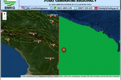 Gempa Magnitudo 5,2 Guncang Boven Digoel