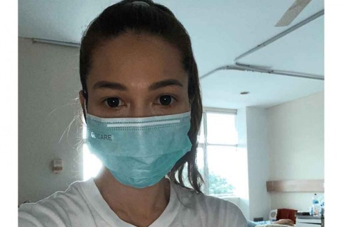 Aktris Andrea Dian Positif Korona