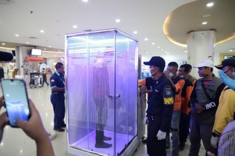 Bandara Internasional Juanda Pasang Bilik Sterilisasi Korona