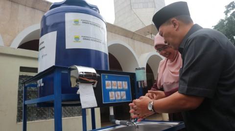 Pemkot Bandung Sediakan Tempat Cuci Tangan di Ruang Publik
