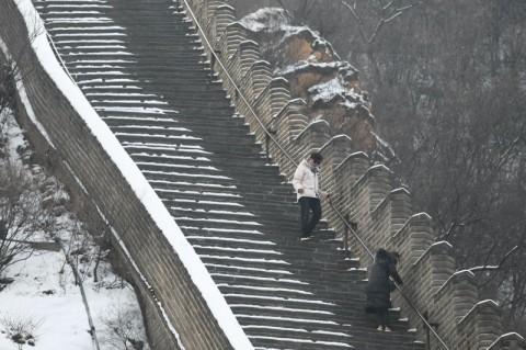 Tembok Besar China Dibuka, Ratusan Pengunjung Mulai Datang
