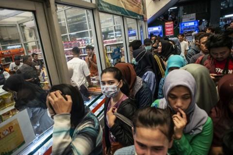 Warga Keluhkan Harga Masker di Pasar Pramuka