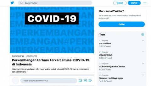 Twitter Tampilkan Informasi Utama Terkait Virus Korona