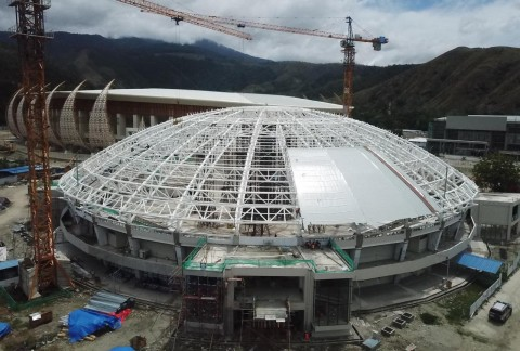 Di Tengah Korona, Pembangunan Empat <i>Venue</i> PON Papua Berlanjut