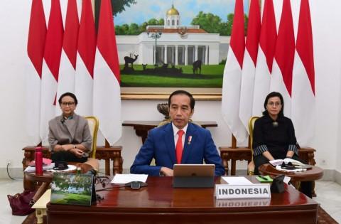 Jokowi Bahas Penanganan Korona Bersama Negara KTT G20