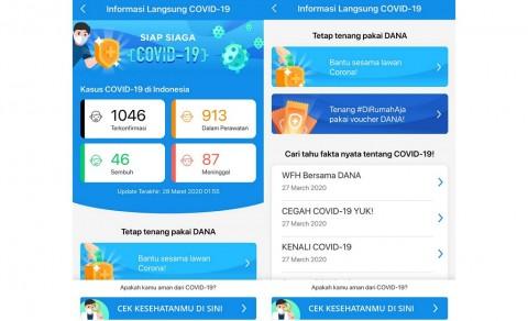 DANA Pasang Halaman Khusus untuk Informasi Covid-19