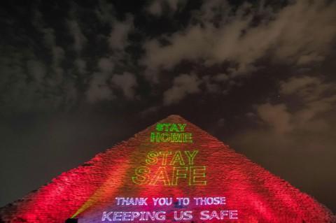 Piramida Mesir Ajak Dunia Bersatu Perangi Covid-19