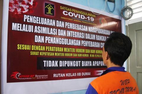 Cegah Penyebaran Covid-19, 21 Napi Rutan Dumai Dibebaskan