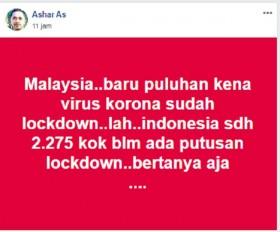 [Cek Fakta] Kasus Positif Korona Masih Puluhan, Malaysia Berlakukan <i>Lockdown</i>? Ini Faktanya