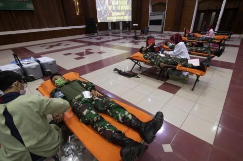 250 Prajurit dan PNS Kopassus Ikut Donor Darah