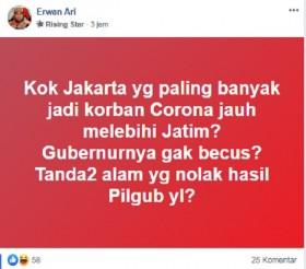 [Cek Fakta] Korona Terbanyak di Jakarta Pertanda Alam Menolak Hasil Pilgub 2017? Ini Faktanya