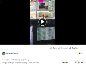 [Cek Fakta] Video Seorang Pedagang Meludahi Makanan yang Dibungkus Hoaks, Ini Faktanya