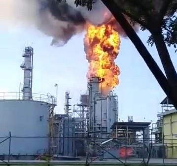 Fasilitas Gas Pertamina di Blora Terbakar