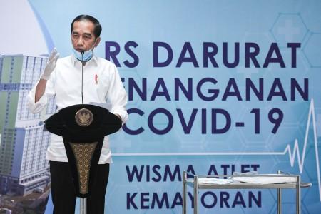 Jokowi Optimistis Indonesia Menang Lawan Korona