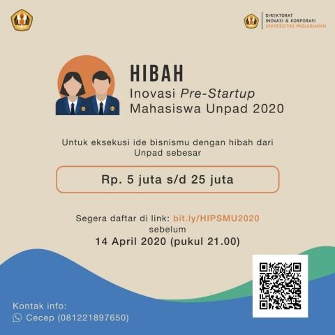 Dibuka, Pendaftaran Hibah Inovasi Pra <i>Startup</i> Mahasiswa Unpad