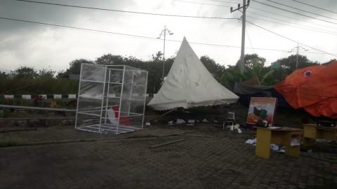 Puting Beliung Rusak 8 Rumah Serta 3 Pos Covid-19 di Aceh